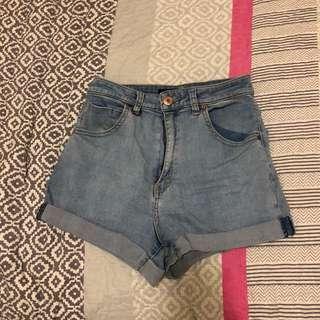 neuw denim high waisted shorts