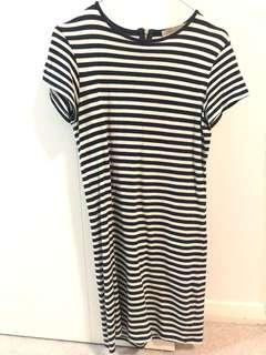 Navy Stripe Cotton Dress