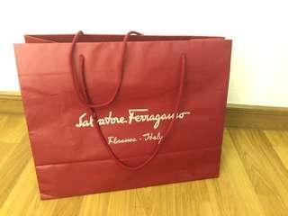 Salvatore Ferragamo paperbag & shoe box