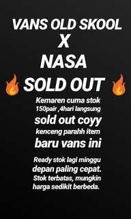 VANS OLD SKOOL X NASA SOLD OUTTT!!!!