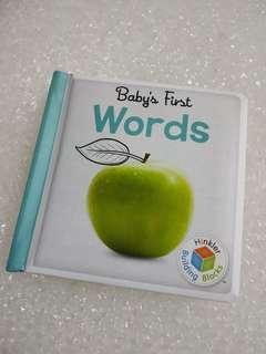 Baby board book - words