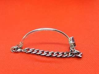 銀韓國韓版S925純銀個性設計做舊黑石手鍊手鐲#sellfaster