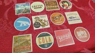 12pcs. Retro 2 Stickers