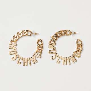 Moschino [TV] H&M Gold-pleated Earrings