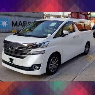 TOYOTA VELLFIRE 2.5 2017 白色/米籠 全新車