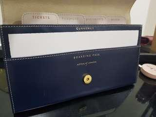 Aspinal of London Classic travel wallet ( Navy blue)