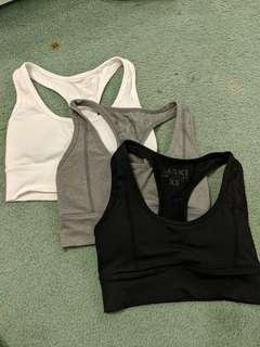 Only charcoal available - Saski Collection sports bras