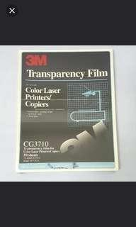 3M Color Laser Copiers / Printers Transparency Film CG3710