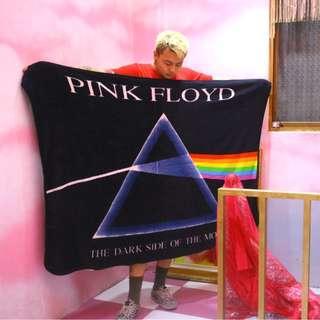 「Pink Floyd Dark Side of the Moon 毯子 毛毯 被被 160x130CM @公雞漢堡」