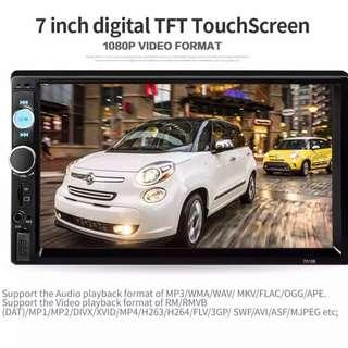 "New 7"" Touchscreen Bluetooth Car Player - Free Steering Wheel Control"