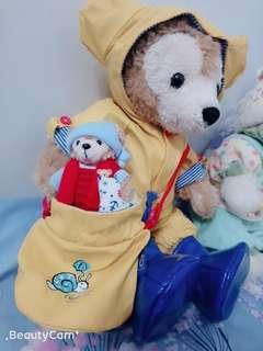 絕版 日本正品 迪士尼  duffy 達菲 衣服 雨衣