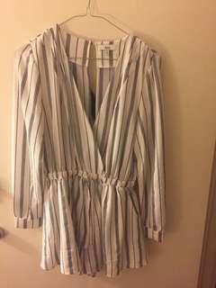 Ava striped playsuit size 8