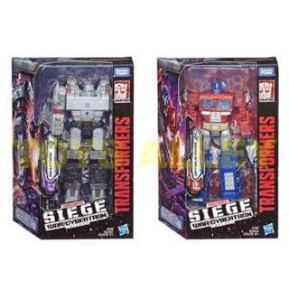 [Preorder] Transformer Siege War for Cybertron Series Voyager Class Wave 1 Optimus Prime & Megatron