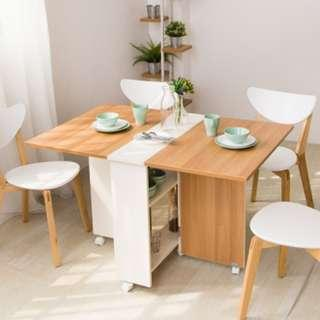 🚚 Dining Table 120cm with storage