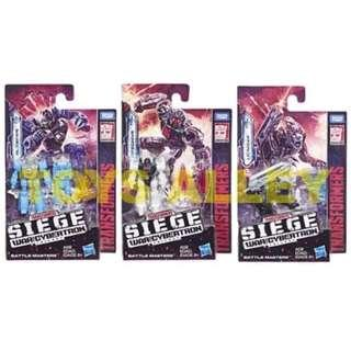 [Preorder] Transformers Siege War for Cybertron Series Battle Masters Wave 1 Set of 3