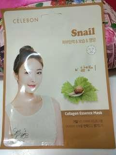 Celebon collagen essence mask snail