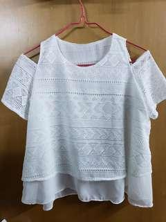 全新New露膊上衣 shoulder less top