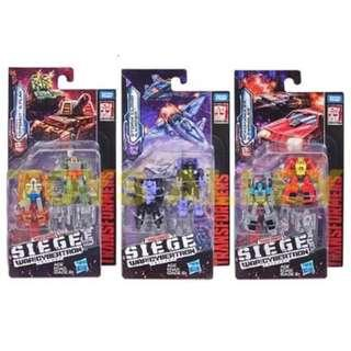 [Preorder] Transformers Siege War for Cybertron Trilogy Series Micromaster Wave 1 Set of 3