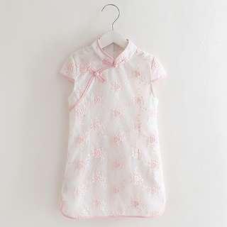 🚚 CS081 Girls Lace Overlay Traditional Chinese Dress Cheongsam Qipao