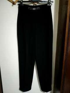 黑色復古西裝褲f