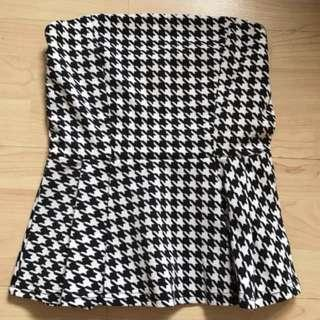 Wore Once Houndstooth Tube Top