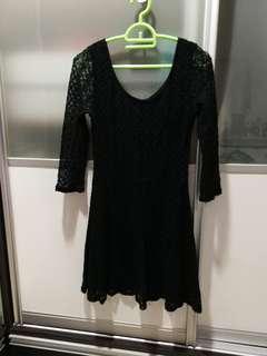 Factorie women black lace dress