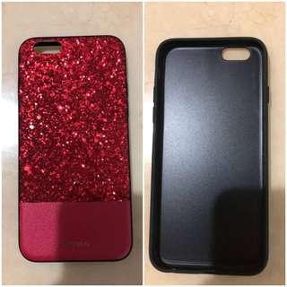 幾乎全新!iPhone 6 閃亮亮紅色造型外殼