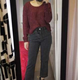 H&M Maroon Knit Sweater