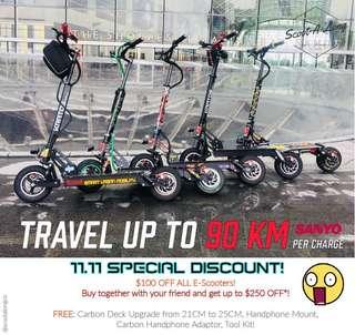 SALE: Up to 90KM KRATOS electric scooter