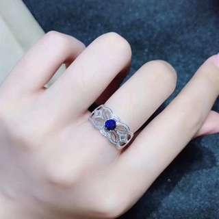 Natural blue sapphire ring  天然藍寶石鑽石戒指