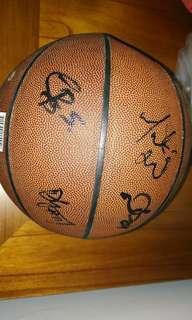 籃球明星親筆簽名籃球