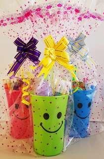 Goodie bag, goody bag, smiley pack