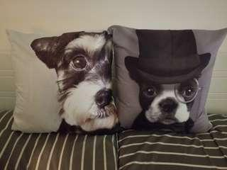 聖誕優惠 可愛小狗 cushion 無紡枕芯350g size 45cm x45 cm