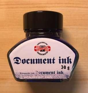Koh-i-noor document ink blue