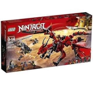 LEGO 70653 Firstbourne 火焰巨龍 龍 赤地 旋風忍者