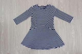 Preloved Dress stripe navy by GAPkids original