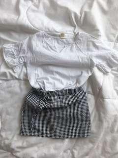 White Top + Skirt