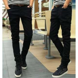 🔥Black Skinny Long Pants Men Women Unisex Korean Fashion🔥