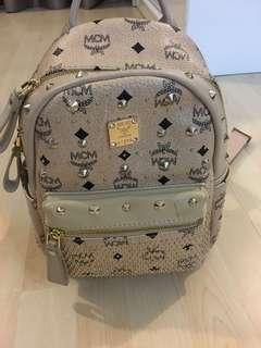 MCM bag - beige with gold detail