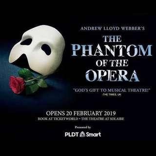 Phantom of the Opera Musical Tickets 2019