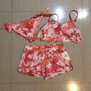 Bikini Roxy BNWT Pink Tropical Swimsuit Baju Renang