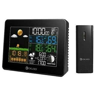 -1454-Digoo DG-TH8868 Wireless Full-Color Screen Digital USB Outdoor Barometric Pressure Weather Station Hygrometer Thermometer Forecast Sensor Clock