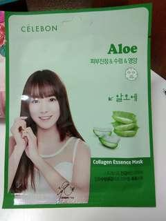 Celebon collagen essence mask aloe