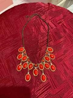 Red & Gold necklace