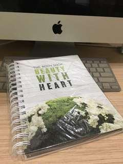 (New) The Body Shop Notes Book
