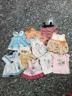 (10) Little girl dresses n tops