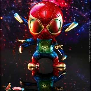 MISB M Sized Iron Spider (Galaxy Color Version) Hot Toys Cosbaby Marvel Avengers Infinity War
