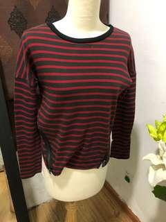 Zara trf stripe blouse