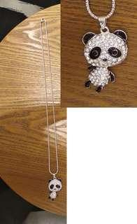 moving panda necklace