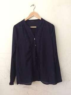 dark blue blouse  #EVERYTHING18 #Singles1111